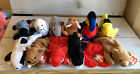 A68 Ty Beanie Babies Lot of 12 Retired Plush Lefty Splash Digger Seamore Bucky