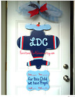 Personalized hospital baby wreathBirth announcement door hangerAirplane decor