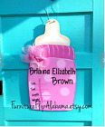 Personalized hospital baby wreathBirth announcement door hangerIts a girl