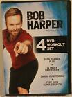 Bob Harper 4 DVD Workout Set Total Trainer Plus cardio conditioning pure burn