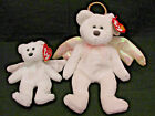 TY Beanie Baby 1998 Halo (Brown Nose) + Herald Jingle Beanie
