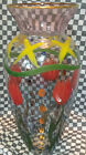 Mackenzie Childs Glass Vase Circus 24 Carat Gold Dots And Red Tulips 105 Ital
