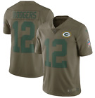 Authentic Nike Aaron Rodgers Mens Green Bay Packers Salute to Service Jersey