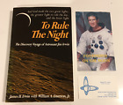 To Rule the Night SIGNED by author Jim Irwin PB Plus bonus pamphlet and card