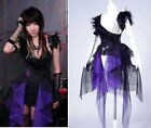 CYBER PUNK GOTHIC One Shoulder Dress COVER 21079 S-L