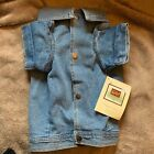 Woolrich Home Dog Jean Jacket Med Large Lt Blue Demin Pet Coat Vest Unlined