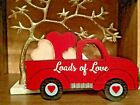 Loads Of Love Red Truck Wood shelf decor Show your Love