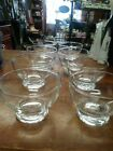 CLEAR GLASS FOOTED DESSERT SHERBET PUDDING CUPS SET OF 8 DIA 3.5