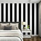 Self Adhesive Vinyl White Black Stripe Contact Paper Peel and Stick Wallpaper 3D
