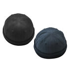 2pack Rolled Oriental Sailor Worker Cap Skull Beanie Cosplay Dance Hat Costumes
