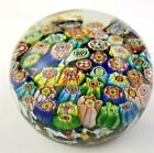 VINTAGE ART GLASS PACKED MILLIFIORI CANES PAPERWEIGHT