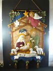 Bucilla MANGER Nativity Christmas Wall Hanging FINISHED 85331 COMPLETED