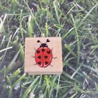 All Night Media Heart Ladybug Love Bug Rubber Stamp