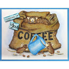 Stampendous cling mounted rubber stamp House Mouse COFFEE BREAK