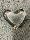 baccarat Clear Crystal Glass Heart Shaped PaperWeight