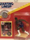 1991 Starting lineup Joe Dumars figure Card Coin toy Detroit Pistons Bad Boys
