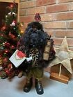 Black African American Santa Claus EUC Christmas Diverse Holiday Decor Rare