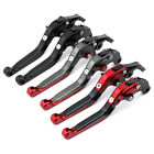 Folding Extendable Brake Clutch Levers For SUZUKI GSX 400F/750 GSF 600S GS500E/F