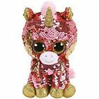 Ty Beanie Boos Flippables Sunset Unicorn  Sequin Plush Stuff Toy 6