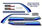 Honda CB250N CB400N Super dream, Super Dream deluxe, Full Sticker Kit. Blue