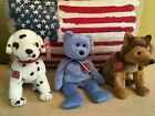 ~ RESCUE ~ COURAGE ~ & AMERICA ~  TY BEANIE BABIES BABY TO COMMEMORATE 9/11 ~