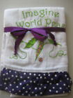 2 Dishtowels Dish Towels Imagine World Peas Pea Green Peas w/purple Trim NEW