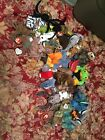 Beanie Baby's Collection Lot Mcdonalds Seaweed Blizard Claude Nuts Spinner Etc