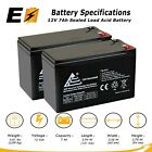 2 Pack 12V 7Ah Battery Replacement for Razor Sweet Pea Pocket Mod
