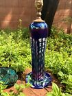 MINT CONDITION Art Glass LAMP Swirl Iridescent Signed Breed DATED 82 WORKS