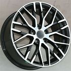 19 SET4 19X85 5X112 RS TYPE BLACK WHEELS AUDI A5 S4 S5 RS4 A4 A6 Q5 Q3