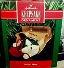 Meow Mart`1990'This Kitty Peaking Out Of The Grocery Sack,Hallmark Tree Ornament