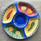 Gibson Viva Fiesta Divided Relish/Snack Tray 15.5