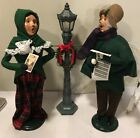 1997 2001 Byers Choice The Carolers Ma and Pa plus Lamp Post