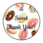 30 15 THANK YOU SWEET DONUTS DONUT FAVOR LABELS ROUND STICKERS
