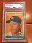 1958 Topps Mickey Mantle PSA 3 Very Good Card # 150
