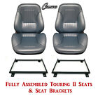 Standard Touring II Fully Assembled Seats  Brackets 1967 Camaro Any Color
