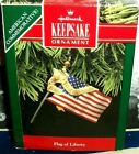 Flag Of Liberty`1991`American Flag,Our Armed Forces,Hallmark Tree Ornament-SALE