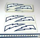 X2 Genuine NOS Retro Vintage BMX Decal Sticker Landing Gear Blue Bolts Mongoose