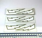X2 Genuine NOS Retro Vintage BMX Decal Sticker Landing Gear Gold Bolts Mongoose