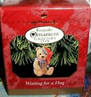 Waiting For A Hug`1999`Little Bear Wearing Hat,Hallmark Christmas Ornament-