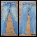 Vtg 90s Wrangler Worn Thrashed Mens Cowboy work Jeans Mens 32x32 Made In Mexico