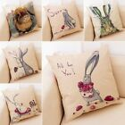 Spring Easter Rabbit Bunny Flower Pillow Case Couch Cushion Cover Home Decor 18