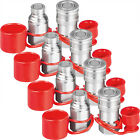 3 4 NPT Flat Face Hydraulic Coupler Coupling Quick Connect Skid Bobcat 4 PACK