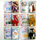 6 TEENIE TY BEANIE BABIES BABY 2000 MILLENNIUM REX OSITO GERMANIA CHILLY THE END