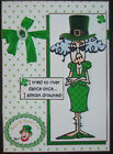 HANDMADE 3 D ST PATRICKS DAY GREETING CARD WITH A SENTIMENT STELLA RIVER DANCE