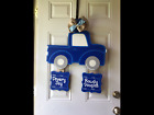 Its a boy hospital wreathtwins personalized birth announcement door hanger