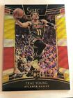2018-19 PANINI SELECT TRAE YOUNG TRI COLOR PRIZM RED YELLOW WHITE RC