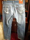 34x32 FIT Vtg 90s Levis 501 DISTRESS NATURAL FADE Buttonfly Raw Denim Jeans