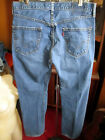 36x34 FIT Vtg 90s Levis 501 DISTRESS NATURAL FADE Buttonfly Raw Denim Jeans