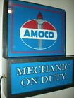 *Amoco Oil Gas Station Garage Man Cave Advertising Lighted Sign